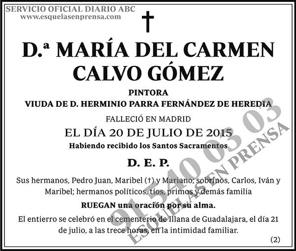 María del Carmen Calvo Gómez